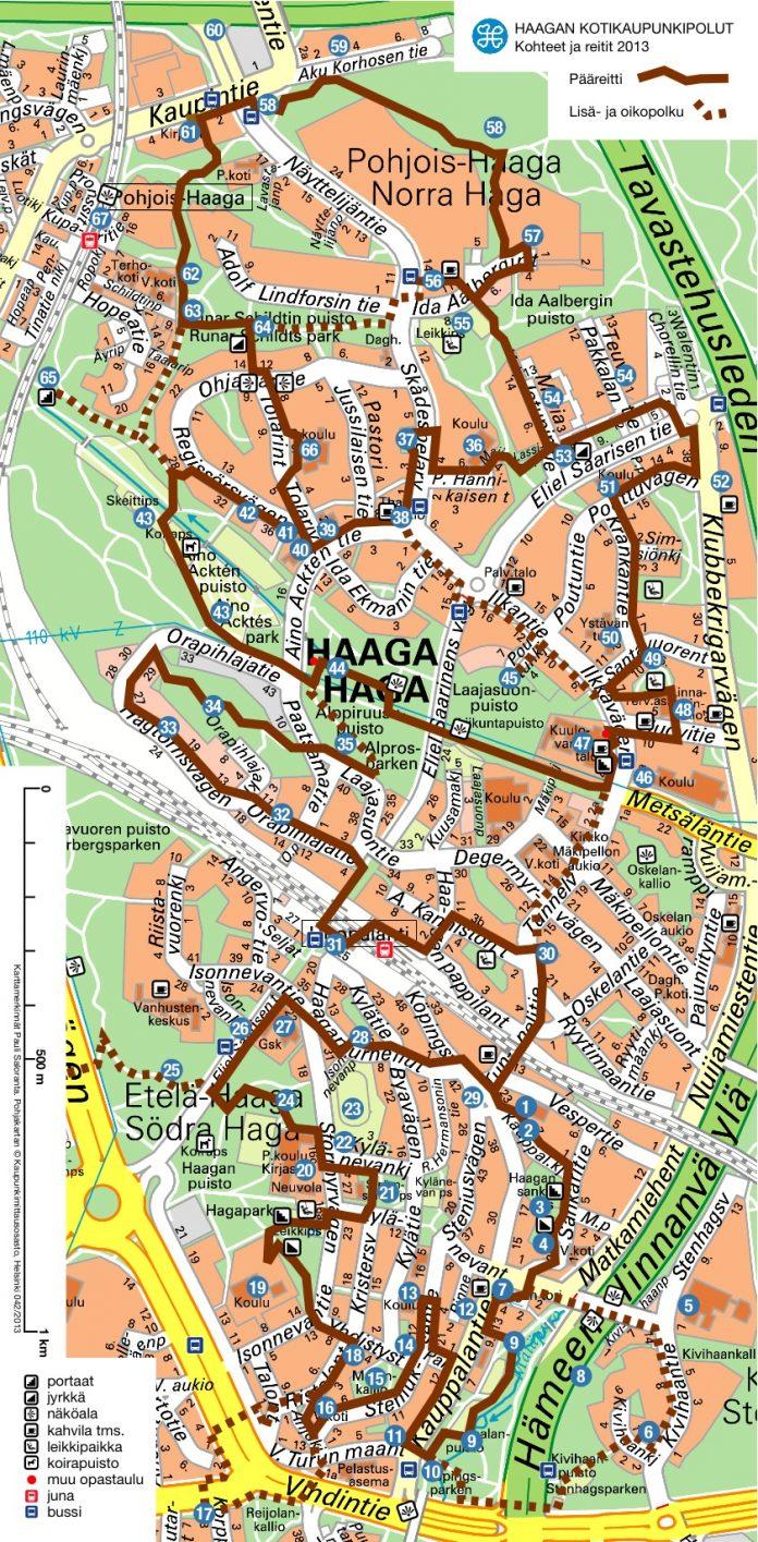 haagan kotikaupunkipolut kartta