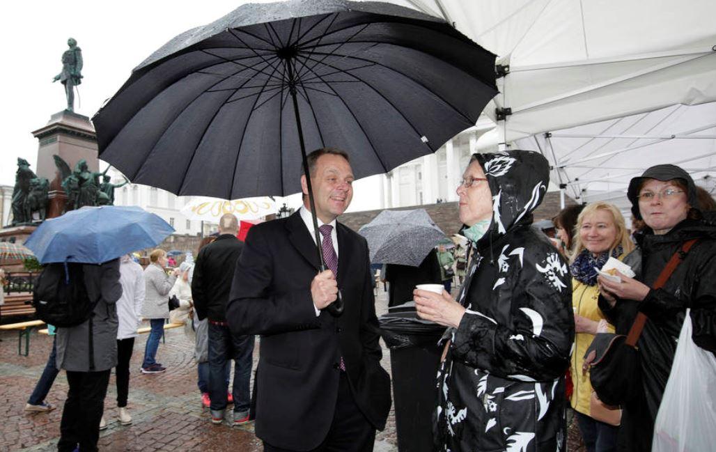Jan Vapaavuori Senaatintorilla Helsinkipäivä 2017
