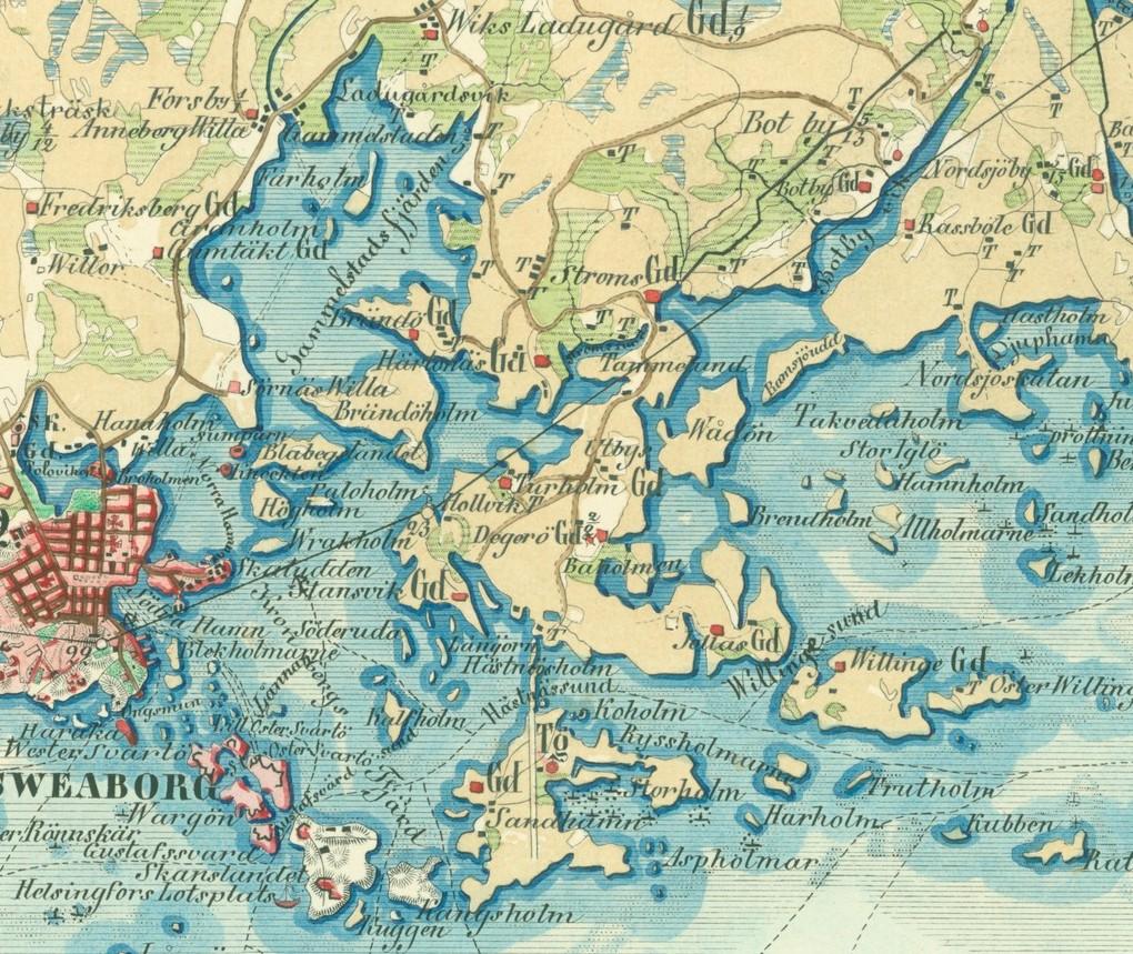 1855 HKI Kalmbergin kartasto ote