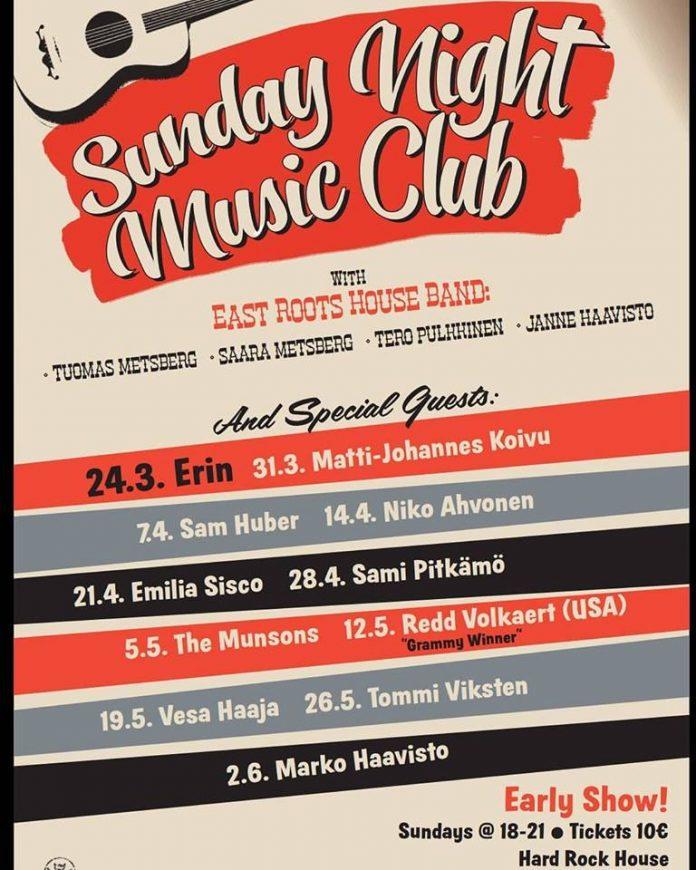 2019 Sunday Night Music Club julistevja ohjelma