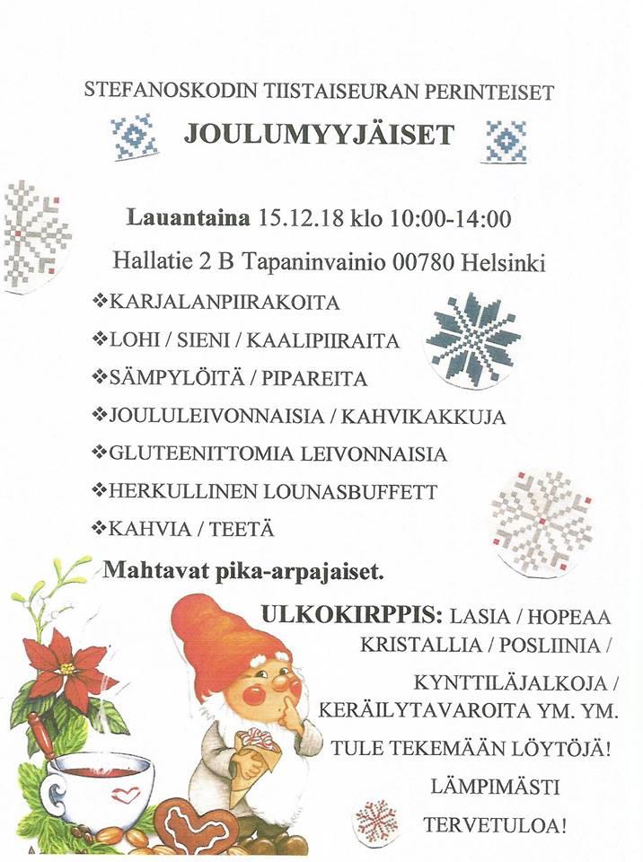 stefanoskodin joulumyyjäiset2018